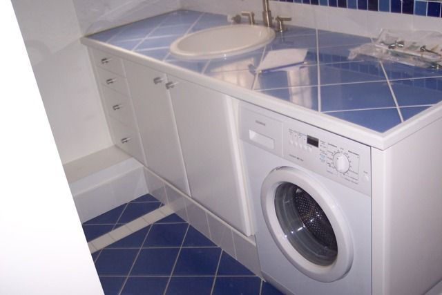 Salle de bains for Pose carrelage plan de travail