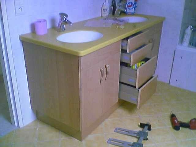 Plan de travail salle de bains cuisine et salle de bain - Plan de travail salle de bain ikea ...