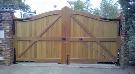 Fabriquer un portail en bois exotique - Fabriquer un tiroir coulissant ...